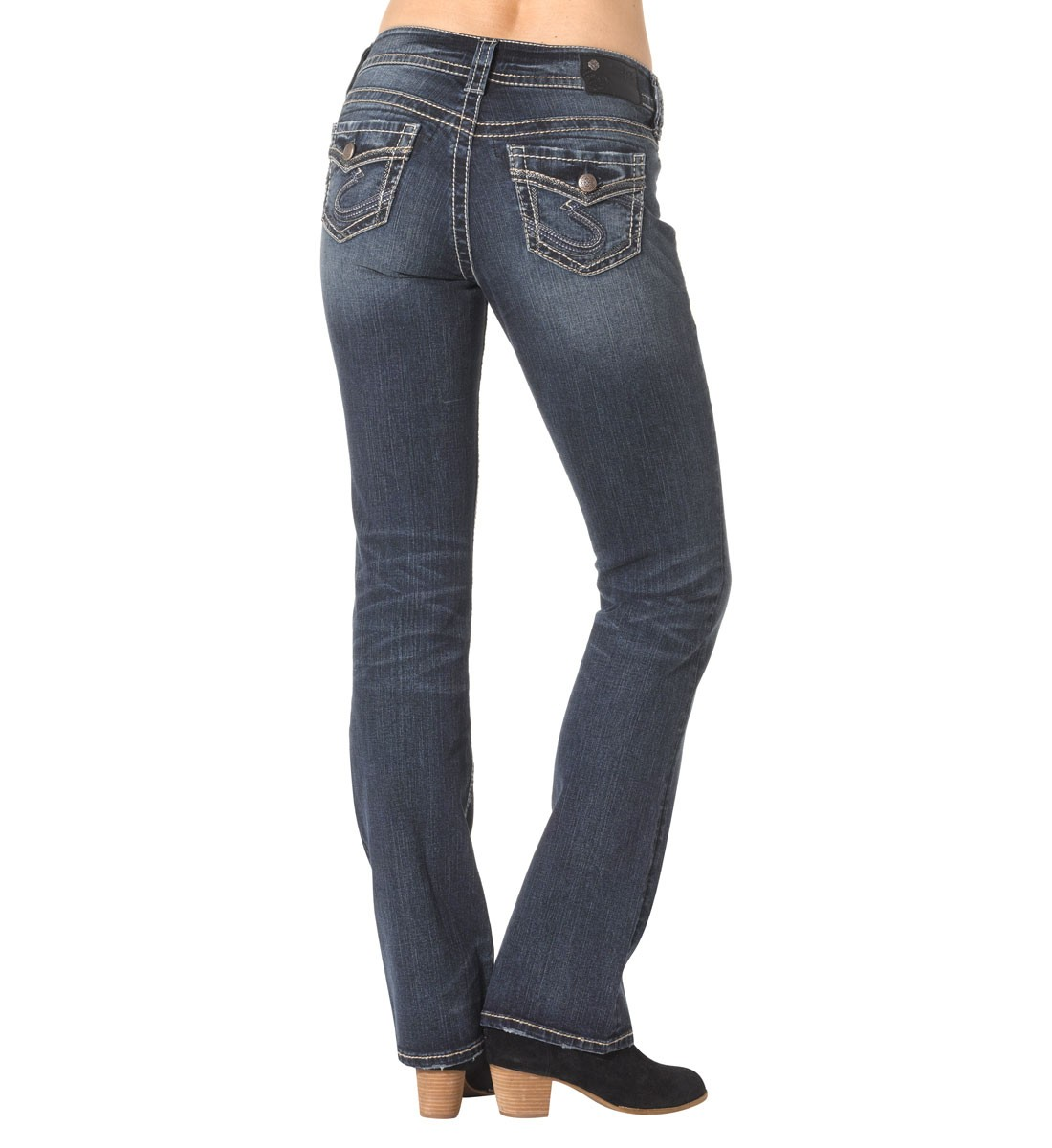 bfa998f07a2 Suki Mid Slim Bootcut Dark Wash Ladies Jeans