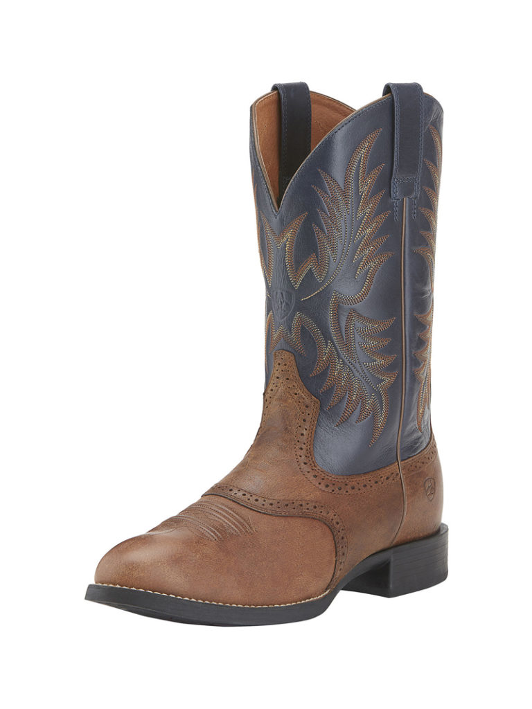 8e8a1ad05f8 Ariat Men's Heritage Stockman Cowboy Boot-blue top round