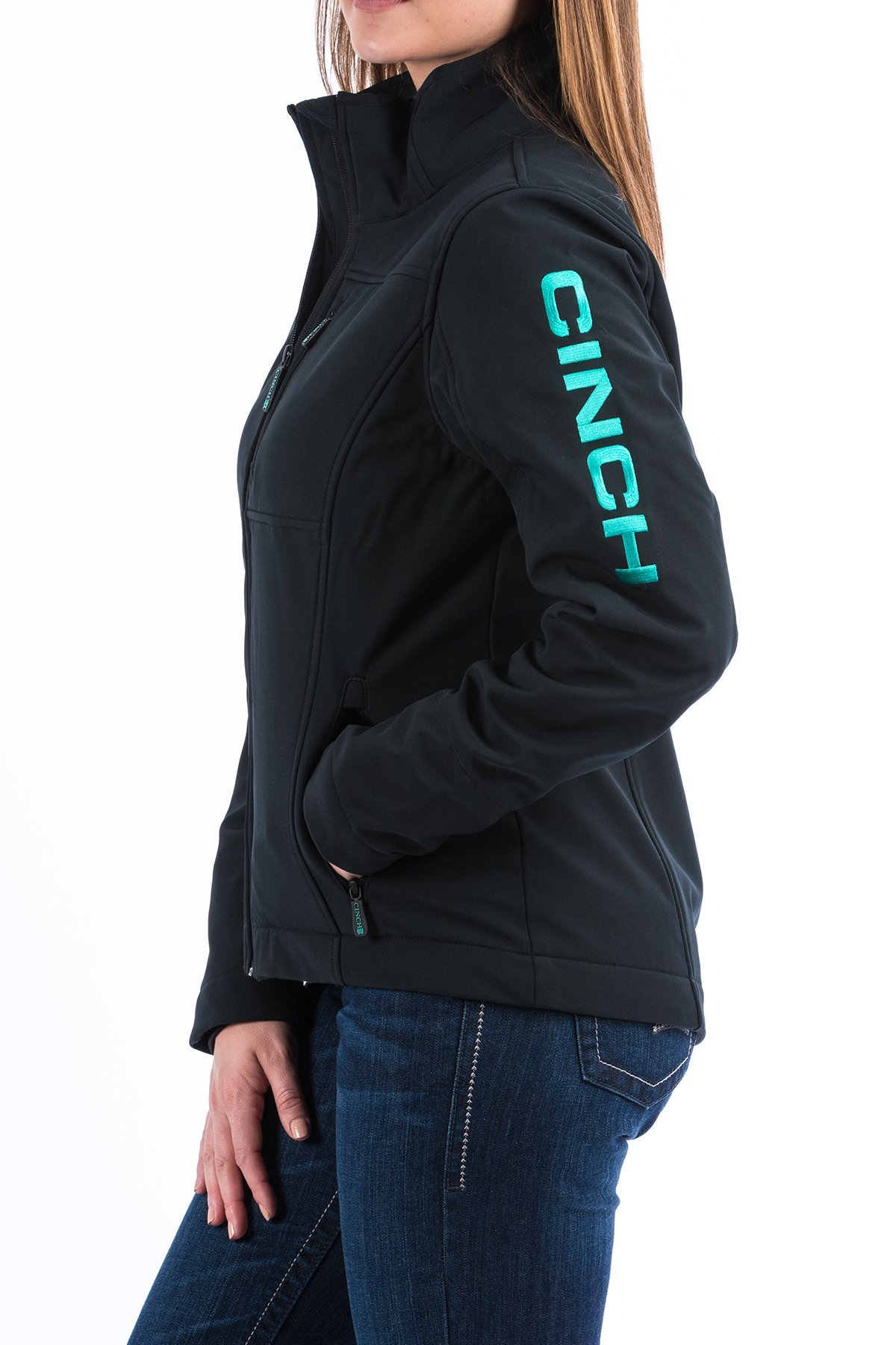 Cinch Ladies Bonded Jacket Concealed Carry Turq Logo On Sleeve Ive Got Bling Western Store