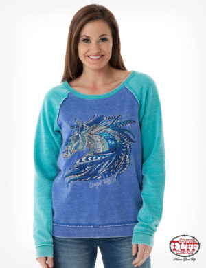 blue-and-turquoise-burnout-sweatshirt-with-front-horse-embroidery