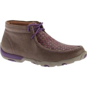 Twisted-X-Boots-Women's-WDM0042-Driving-Moc-Bomber-Purple-Leather