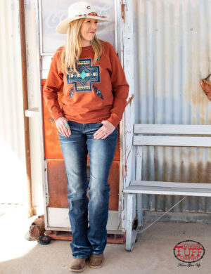 rust-crew-neck-raglan-sleeve-pullover-sweatshirt-with-earth-tone-embroidered-graphics